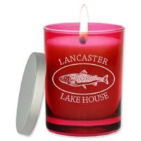 Carved Solutions Gem Collection Trout Soy Wax Candle in Glass Vessel in Ruby