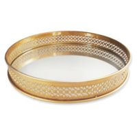 Charge It By Jay 15-Inch Round Serving Tray in Gold