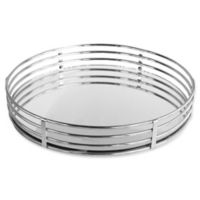 Charge It By Jay 15-Inch Circle Tray in Silver