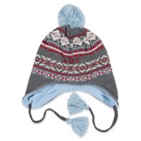 ED Ellen DeGeneres Fair Isle Knit Hat in Grey