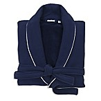 Linum Home Textiles Large/Extra-Large Waffle Terry Turkish Cotton Unisex Bathrobe in Navy