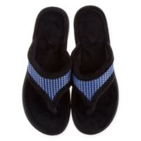 Therapedic® Medium Women's Thong Slippers in Blue