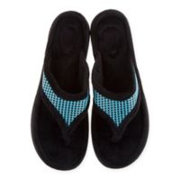 Therapedic® Medium Women's Thong Slippers in Aqua