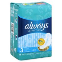 Always® 38-Count Ultra Thin Size 3 Extra Long Unscented Super Pads With Wings