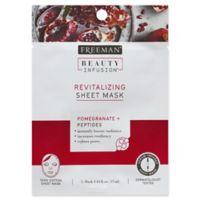 Freeman® Beauty Infusion Pomegranate + Peptides Revitalizing Sheet Mask