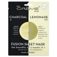 The Creme Shop® 2-in-1 Fusion Mask in Charcoal and Lemon