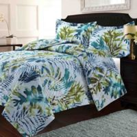 Tribeca Living Lyon Tropical Rainforest King Quilt Set in Blue/Green