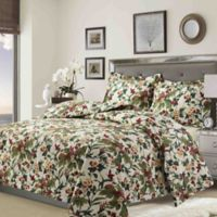 Tribeca Living Tropical Garden Twin Quilt Set in Ivory