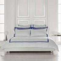 Frette at Home Arno King Duvet Cover in White/Sapphire