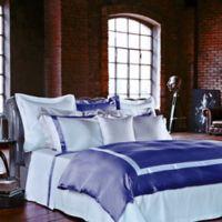 Frette at Home Arno King Duvet Cover in Sapphire/White