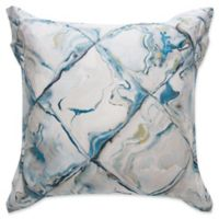 Frette At Home Blue Marble European Pillow Sham in Turquoise