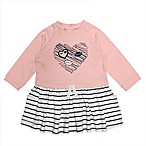 Mini Heroes Size 12M Newborn Glitter Heart Dress in Pink