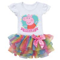 Peppa Pig™ Heart Size 2T Rainbow Tutu T-Shirt
