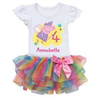 Peppa Pig™ Size 4T Birthday Fairy Rainbow Tutu T-Shirt