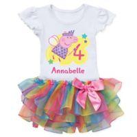 Peppa Pig™ Size 5/6 Birthday Fairy Rainbow Tutu T-Shirt