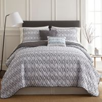 Pacific Coast Textiles Tokyo King Quilt Set in Grey