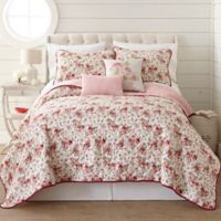 Pacific Coast Textiles Zella Reversible King Quilt Set in Blush