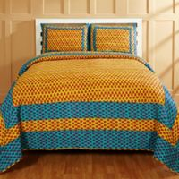 Amity Home Sonal King Quilt Set in Yellow/Blue