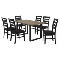 Forest Gate 7-Piece Hunstville Contemporary Wood Dining Set in Black/Aged Grey