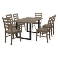 Forest Gate 7-Piece Hunstville Contemporary Wood Dining Set in Aged Grey/Black