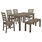 Forest Gate Hopewell 6-Piece Dining Set in Aged Grey