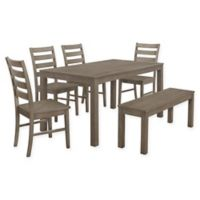 Forest Gate 6-Piece Hopewell Contemporary Wood Dining Set in Aged Grey