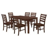 Forest Gate 7-Piece Hopewell Contemporary Wood Dining Set in Walnut