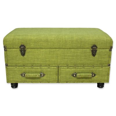 River Of Goods® Layton Storage Trunk In Green