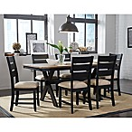 Standard Furniture Braydon 7-Piece Table and Chair Set in Rustic Brown