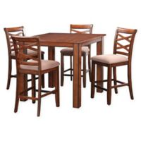 Standard Furniture Redondo 7-Piece Table and Chair Set in Cherry Wood