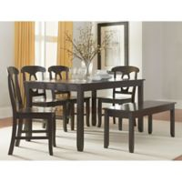 Standard Furniture Grayson 6-Piece Table and Seat Set in Grey