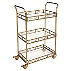 Kate and Laurel Ketia Rolling Bar Cart in Gold