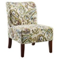 Linon Home Curved Back Slipper Chair in Lagoon