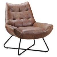 Moe's Home Collection Graduate Leather Lounge Chair in Cappuccino