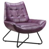 Moe's Home Collection Graduate Leather Lounge Chair in Purple