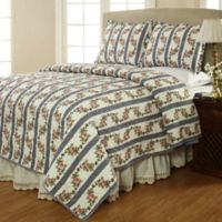 Amity Home Annie King Quilt Set in Cornflower Blue