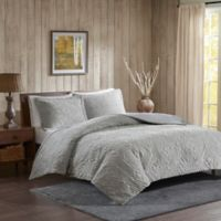 Woolrich® Teton Plush King/California King Coverlet Set in Grey