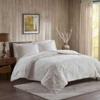 Woolrich® Teton Plush King/California King Coverlet Set in Ivory