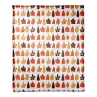 Designs Direct Leaves Throw Blanket in Orange