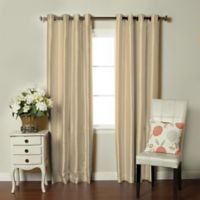 Brielle Fortune 84-Inch Grommet Top Room Darkening Window Curtain Panel in Natural