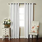 Brielle Fortune 84-Inch Grommet Top Room Darkening Window Curtain Panel in Silk White