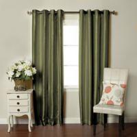 Brielle Fortune 84-Inch Grommet Top Room Darkening Window Curtain Panel in Sage
