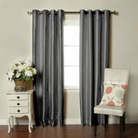 Brielle Fortune 108-Inch Grommet Top Room Darkening Window Curtain Panel in Silver
