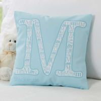 Initial It! 14-Inch Square Throw Pillow