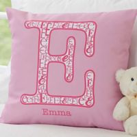 Initial It! 18-Inch Square Throw Pillow