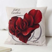 Blooming Heart 14-Inch Throw Pillow