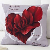 Blooming Heart 18-Inch Throw Pillow