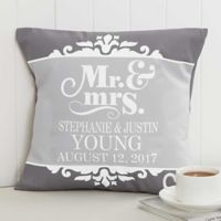 The Happy Couple 14-Inch Square Throw Pillow