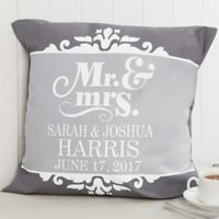 The Happy Couple 18-Inch Square Throw Pillow