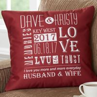 Our Life Together 18-Inch Square Throw Pillow